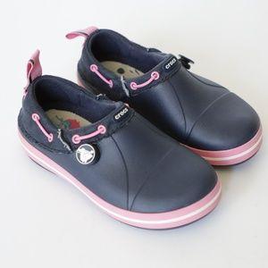 Girls Navy Blue Crocs Comfort Slip On Clog 13